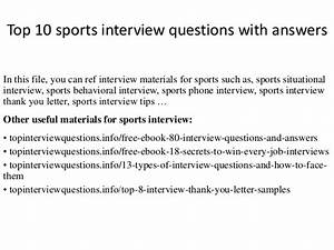 Top 10 sports interview questions with answers