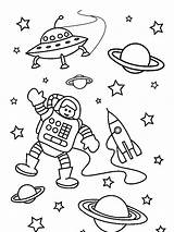 Astronaut Coloring Space Pages Outer Preschool Preschoolers Mission Worksheets Popular sketch template