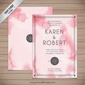 abstract watercolor wedding invitation vector free download With wedding invitation abstract watercolor painting