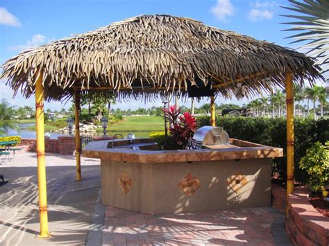 custom tiki huts paradise outdoor kitchens outdoor