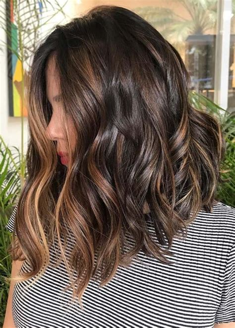 brunette balayage hair color ideas