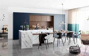 Cuisine ilot central 12 photos de cuisinistes cote maison for Petite cuisine équipée avec meuble de salle a manger contemporain