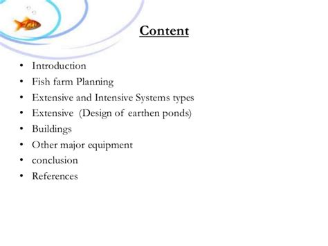 fish farm design construction