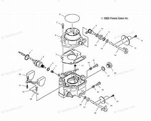 Polaris Side By Side 2004 Oem Parts Diagram For Carburetor