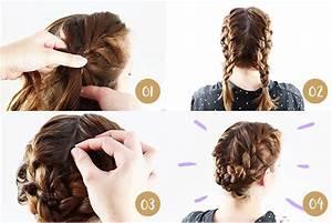 Coiffure Tresse Facile Cheveux Mi Long : tuto chignon tendance 2018 ~ Melissatoandfro.com Idées de Décoration