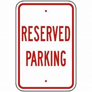 custom Reserved Parking sign Reflective 080 aluminum