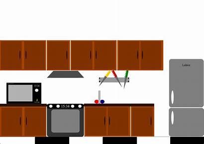 Kitchen Clipart Clip Cabinet Furniture Transparent Printable