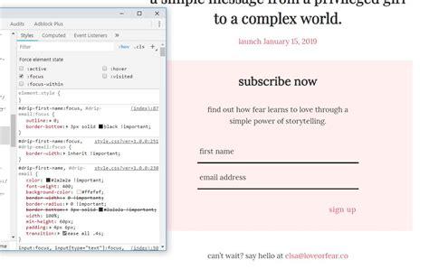 stylesheet override agent focus user devtools started link