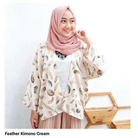Kimono Top Atasan Wanita beli hemat harga diskon baju muslim original cardigan