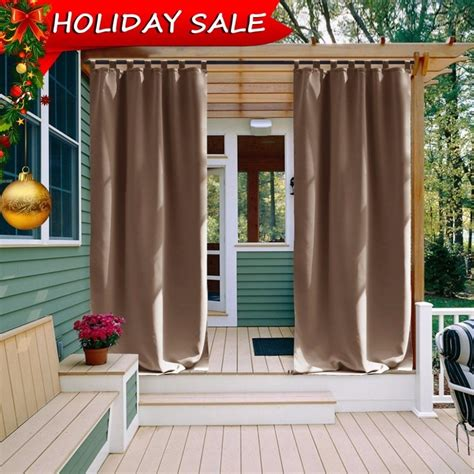 patio drapes outdoor outdoor curtain panel for patio nicetown tab top thermal