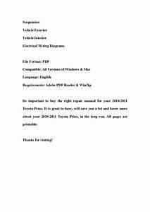 2010 2011 Toyota Prius Service Repair Workshop Manual Download
