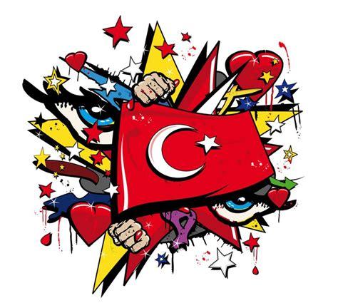 Drapeau Empire Ottoman by Sticker Turquie Drapeau Graffiti Empire Ottoman