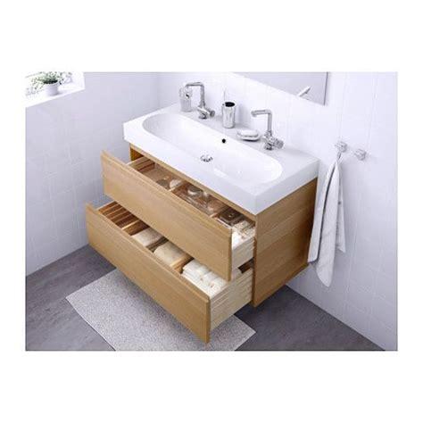 Ikea Bathroom Sinks Uk by Godmorgon Sink Cabinet With 2 Drawers Black Brown Black