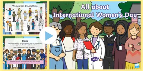 * New * All About International Women's Day Eyfs Powerpoint
