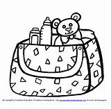 Diaper Coloring Drawing Getdrawings sketch template