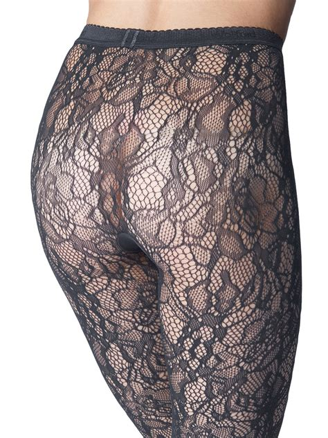 wolford clair fashion floral lace tights  gray lyst