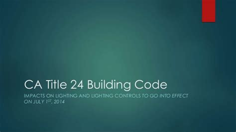 Sales Training-new Building Codes For Lighting-ca Title