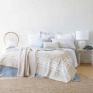 Bettwäsche Zara Home : colcha y funda de coj n lino bordado colchas cama zara home espa a decorative pillows ~ Eleganceandgraceweddings.com Haus und Dekorationen