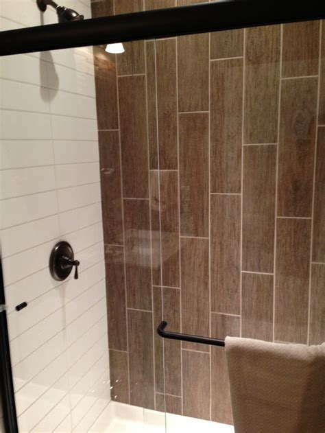 Wood Tiles In Bathroom by Bathrooms With Vertical Tile Vertical Tiles Subway Tile