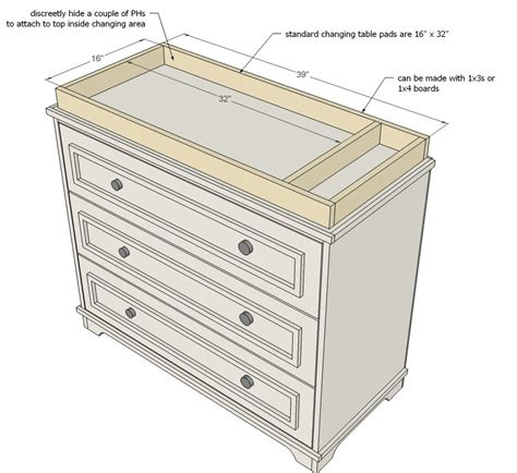 how to make a changing table ana white build a fillman dresser or changing table