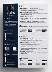 10 best free resume cv templates in ai indesign word With creative resume template word