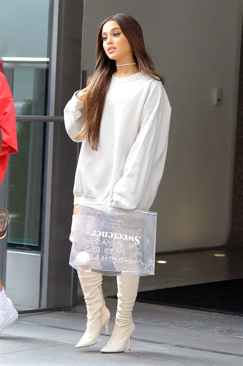 Ariana Grande All White Was Seen Out Nyc Celeb Donut