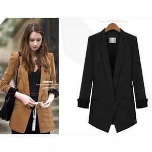 Blazer Femme Noir : long blazer noir l habilleuse ~ Preciouscoupons.com Idées de Décoration