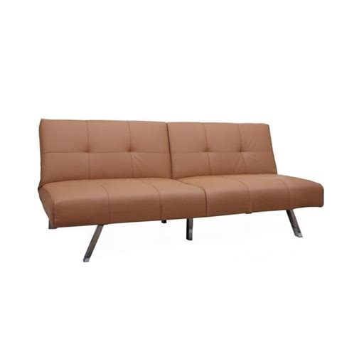 camel faux leather sofa brika home faux leather convertible sofa in camel br 526749