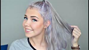 Grey/Lavender Hair Tutorial | Bleaching & Toning - YouTube