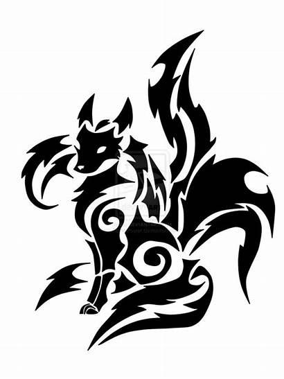 Tribal Kitsune Tattoo Fox Tattoos Wolf Guardian