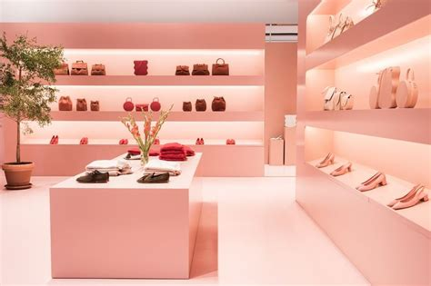 luxe leather pop  shops millennial pink popup