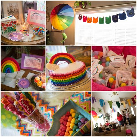rainbow baby shower shower of roses rainbow connection a baby shower for kristin
