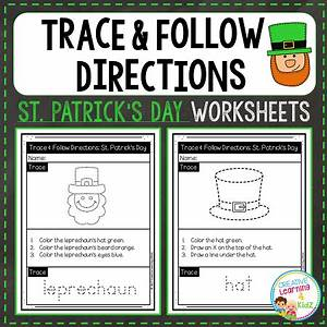 Trace & Follow Directions Worksheets: St. Patrick's Day ...