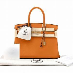 Hermes Birkin Bag Togo Orange 30cm Women's Handbag on Sale  Hermes
