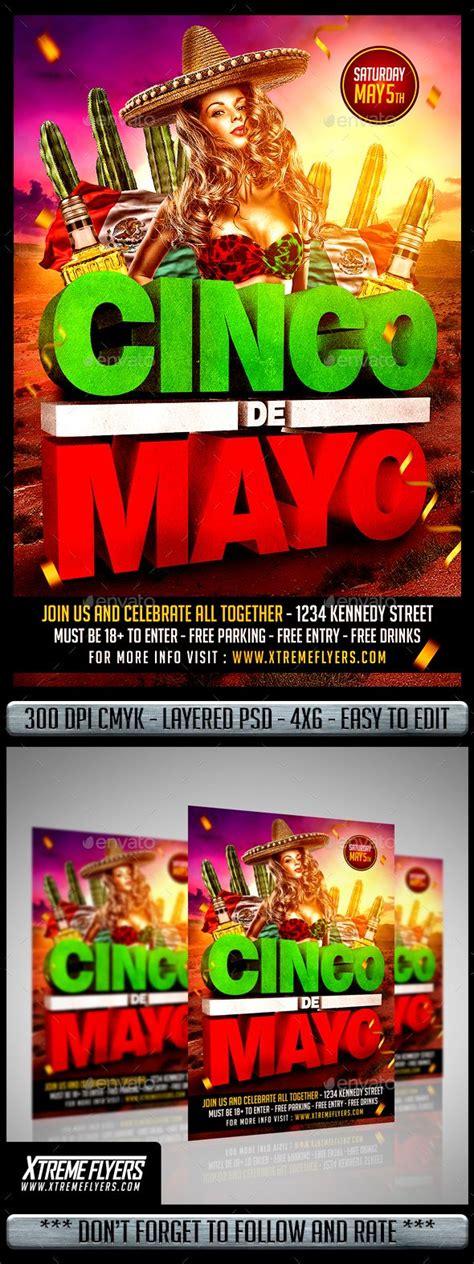 Cinco De Mayo Flyer   Cinco de mayo, Halloween flyer, Flyer