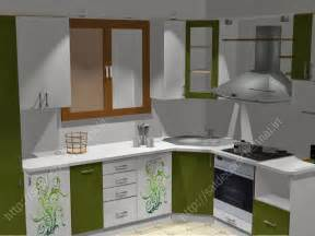 flower design modular kitchen