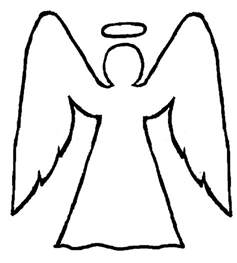 Angel Outline Coloring Pages