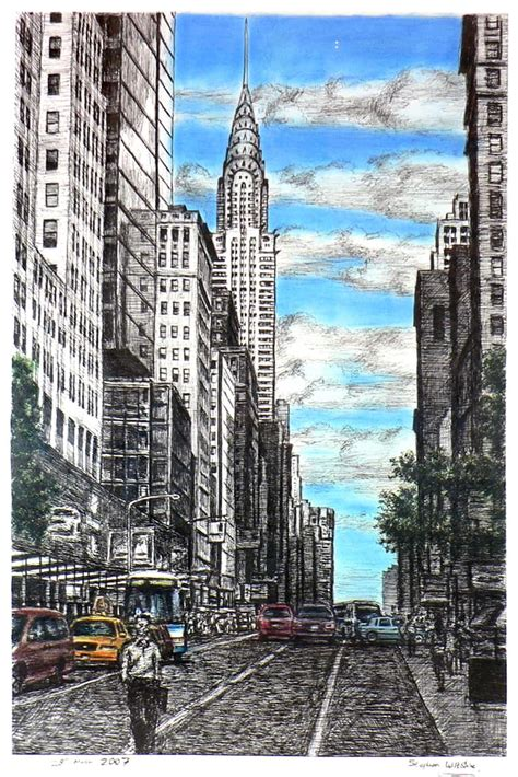 chrysler building  street scene   york original
