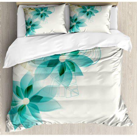 Teal Colored Duvet Cover by Teal Duvet Cover Set Vintage Inspired Floral Design With