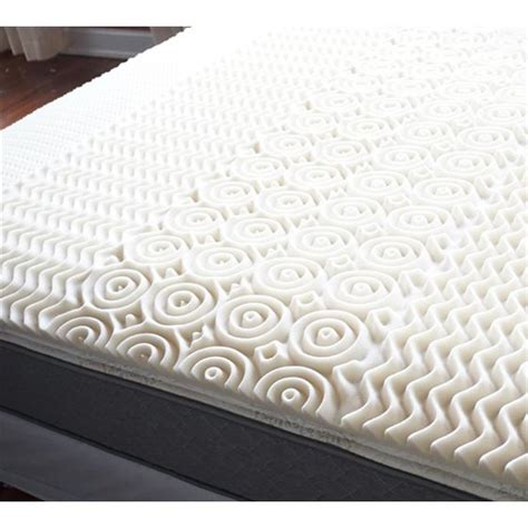 zone egg crate memory foam topper walmartcom