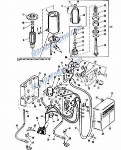 Johnson Electric Starter Group Parts For 1959 50hp V4sl