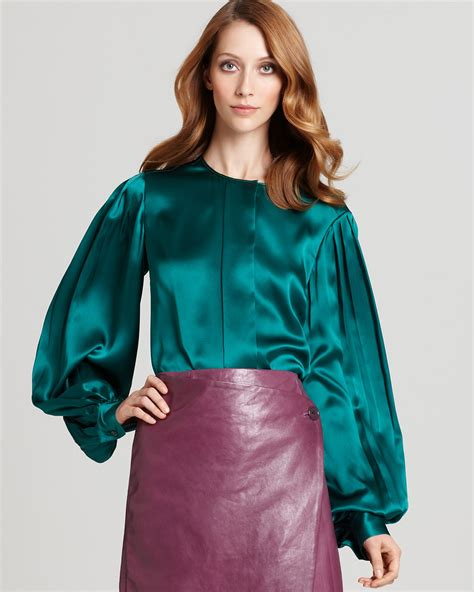 silk charmeuse blouse klein collection silk charmeuse blouse bloomingdale 39 s