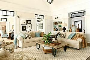 Area Rug In Neutral Living Room Modern Home Design Ideas