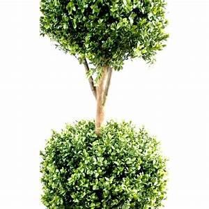 Boule De Buis : buis artificiel tige double boules 2 boules de buis ~ Melissatoandfro.com Idées de Décoration