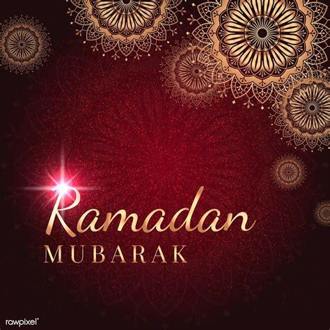 premium vector  ramadan mubarak card design