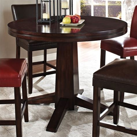 round bar height table steve silver company hartford 48 quot round counter height