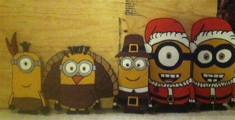holiday wood cut  plywood yard decor yard art minions
