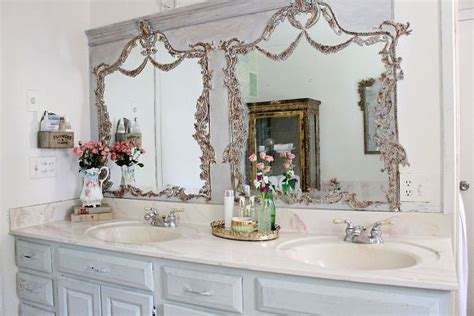 Builder Grade Bathroom Mirror by How To Turn Your Builder Grade Mirrors Into Vintage
