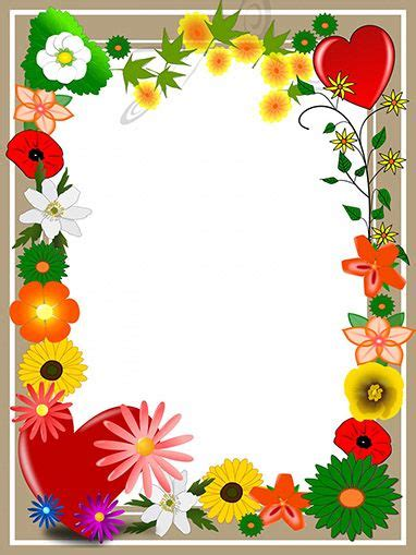 elegant card  summer flowers  hearts mothers day