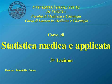 Dispensa Informatica Di Base by Statistica Medica Fenomeni Probabilistici Dispensa